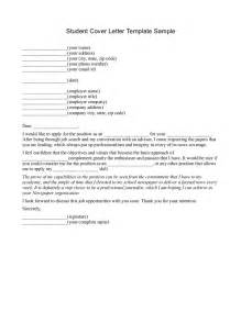 Student Cover Letter Template by Best Photos Of Sle Cover Letter For Students Sle