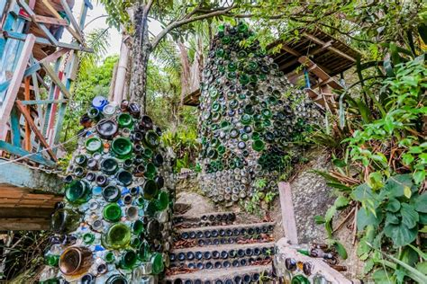 trash house this colorful kooky treehouse is made entirely from trash homecrux