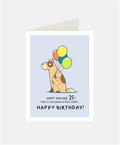 Birthday Card For In 25th Birthday Greeting Card Lingvistov