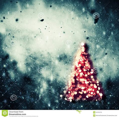 vinyage snowball lights tree glowing on winter vintage background stock illustration illustration of glowing