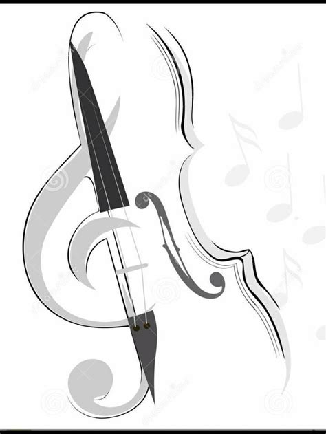 violin tattoo designs violin sketch