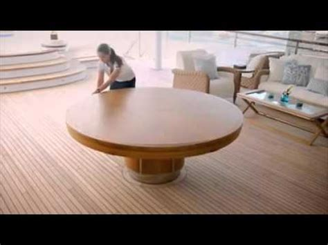 Dining Room Tables Extendable by Expandable Round Dining Table Youtube