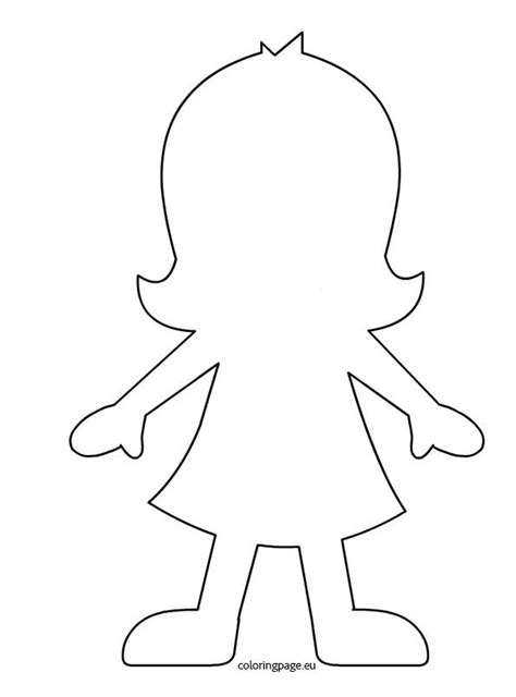 printable paper doll outline silhouette fille filles garcons pinterest paper doll