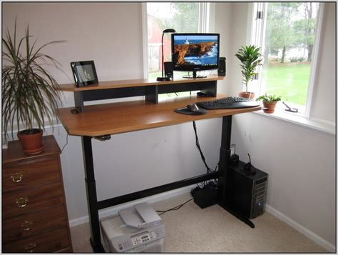 diy adjustable standing desk converter standing desk diy post image for a standup guy diy