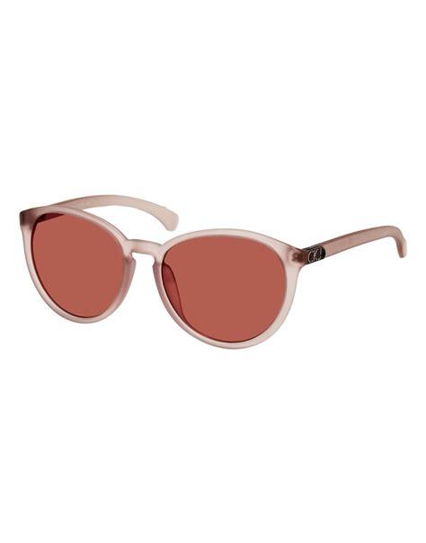 Calvin Klein M2 Square calvin klein sunglasses in pink lyst