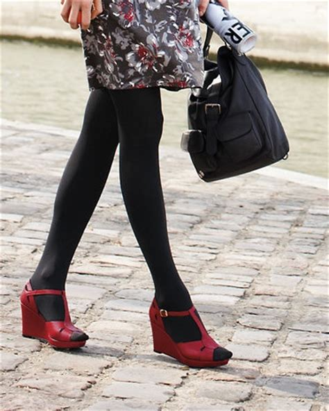 shoes with black tights style notes