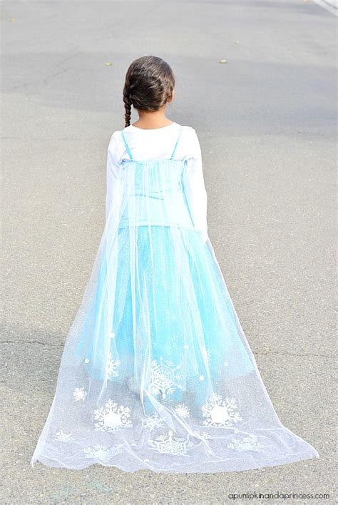 Elsa Handmade Costume - diy disney elsa costume a pumpkin and a princess
