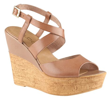 aldo brown sandals aldo dradolle ankle wedge sandals in brown taupe