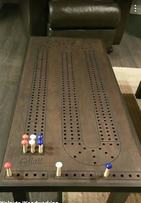 cribbage table woodworking pinterest ideas