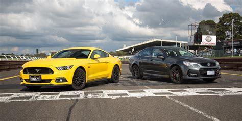 Car Comparison by Ford Mustang Gt Fastback V Holden Commodore Ss V Redline