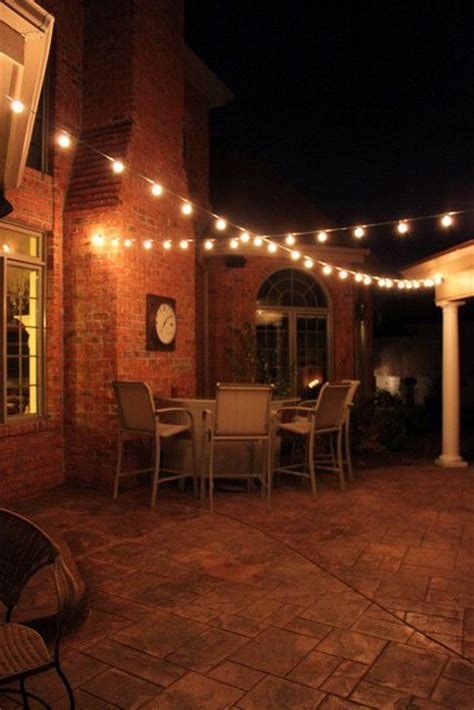 Diy Patio Lights Outdoor Patio Lighting I These Lights Always Wanted An Outdoor Space To Hang Some