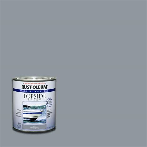 rust oleum marine 1 qt gloss battleship gray topside paint of 4 207005 the home depot