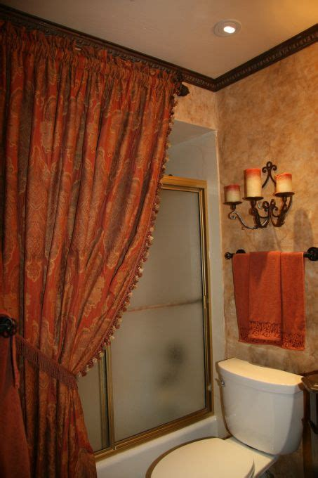bathroom ideas with shower curtain tuscany shower curtain world styled bathroom bathroom designs decorating ideas hgtv