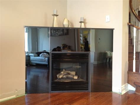 stainless steel fireplace mantel black mirror finish stainless steel mantel