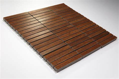 feinsteinzeug mosaik wood holzoptik braun 1 5x10 30x30