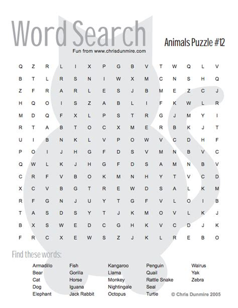 impossible word search printable or for humans too young to drive an unsolvable word