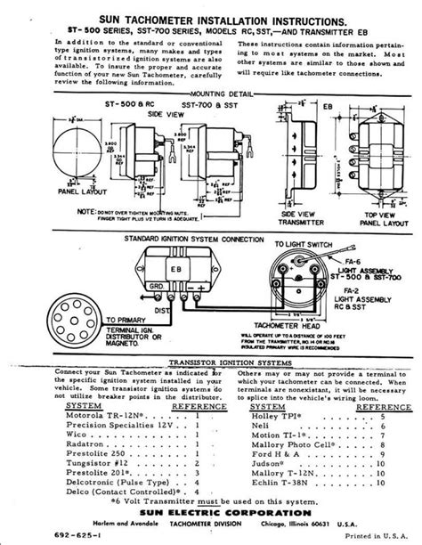 sun tach wiring diagram technical using sun tach without transmitter page 2