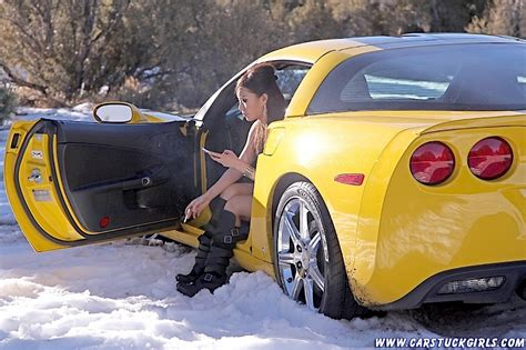 Funny Door Stops by Gets Stuck In The Snow With A C6 Corvette Online