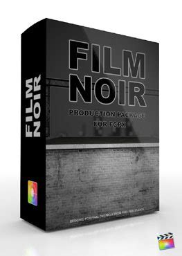 themes in film noir included retro themes and templates for final cut pro x