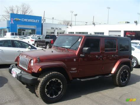 red jeep wrangler unlimited 2010 red rock crystal pearl jeep wrangler unlimited sahara