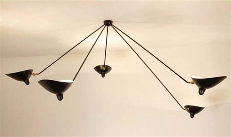 serge mouille lade serge mouille ceiling l quot spider quot 5 fixed arms