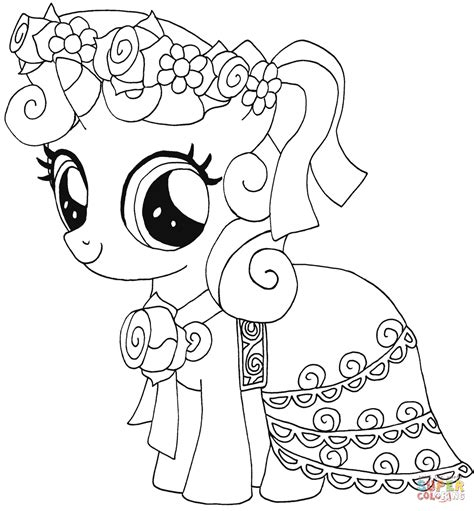 my little pony games coloring pages in color my little pony sweetie belle coloring page free