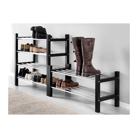 ikea shoe rack tjusig shoe rack black 79 cm ikea