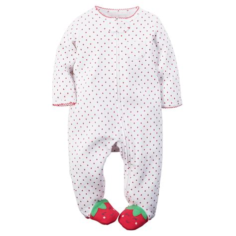 Baby Footed Sleepers by S Newborn S Footed Pajamas Strawberry