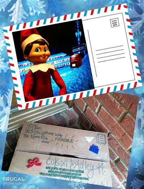 printable elf on the shelf postcard elf on the shelf ideas elf sends a postcard printable