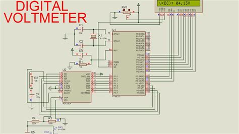 digital voltmeter circuit diagram digital voltmeter circuit diagram using 8051 efcaviation