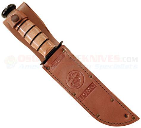 Ka Bar Usmc 7 Fixed Blade Fighting Knife W Brown Leather Sheath 12 kabar 1218 usmc fighting utility knife comboedge leather sheath osograndeknives