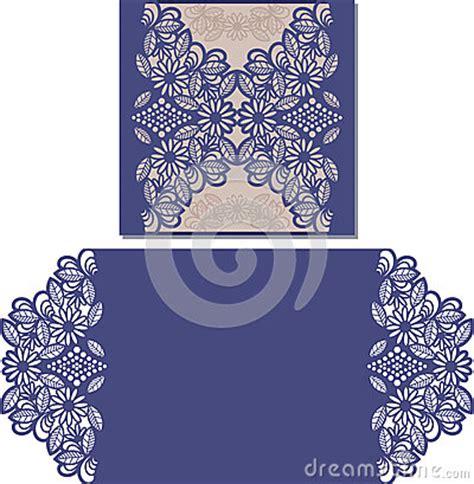 credit card template for cricut laser cut pattern for invitation card for wedding stock
