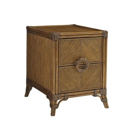 bahama end tables bahama bali hai bungalow end table in warm brown