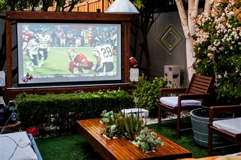 diy backyard theater entertainment to your backyard by building an outdoor