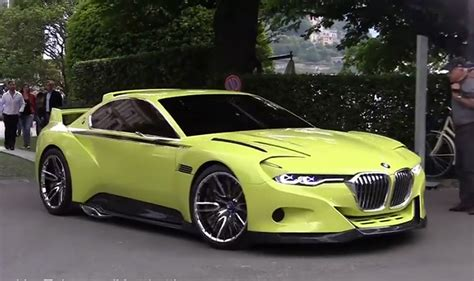 bmw concept csl bmw s 3 0 csl hommage concept start up and roll