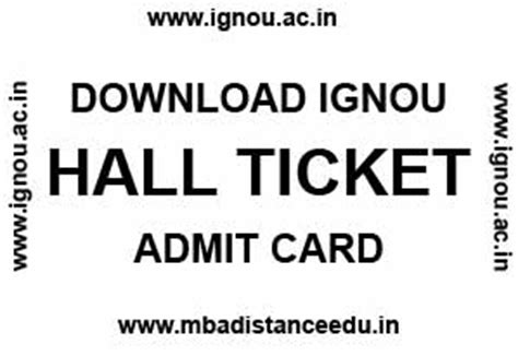 Distance Learning Mba In Hr From Ignou by Ignou Ticket June 2018 Bdp Ba M Ma Mba Mca