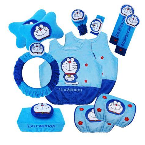 Sarung Stir Cover Steer Mobil Boneka Kartun Doraemon Biru grosir bantal mobil lucu harga murah motif doraemon jual aksesoris bantal jok mobil