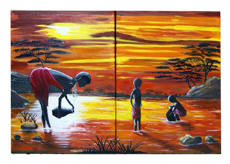cuadros africa cuadro africano imagui