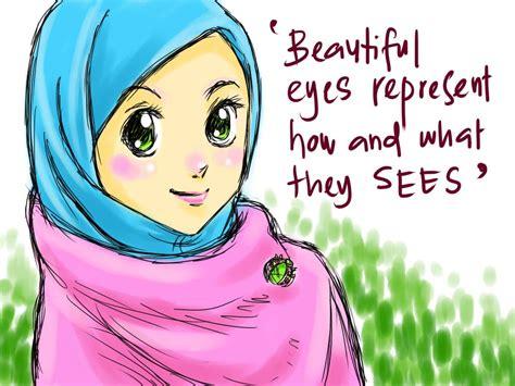 Cermin Cantik Dan Lucu koleksi kartun comel muslimah bertudung azhan co