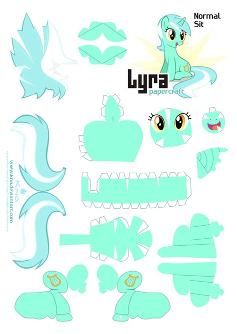 Papercraft My Pony - lyra papercraft pattern normal by kna deviantart on