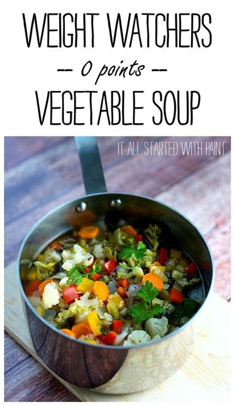 vegetables 0 points weight watchers vegetable soups soups and zero on