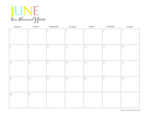 free 2015 printable calendar by shiningmom com fun and