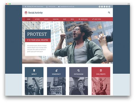 wordpress web page layout best political wordpress themes for politicians 2017