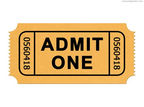 printable admit one ticket template ticket templates clipart best