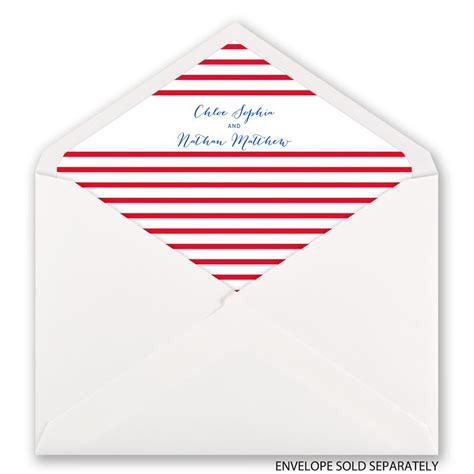 nautical style nautical style designer envelope liner invitations by