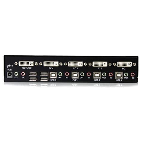 dvi kvm switch 4 4 dvi usb kvm switch with audio kvm switches
