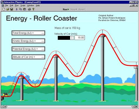 roller coaster diagram physics interactive physics physics simulation software for the
