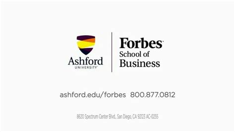 Forbes For Mba by Ashford Forbes School Of Business Tv Commercial