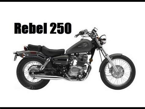 honda rebel 250 full review youtube
