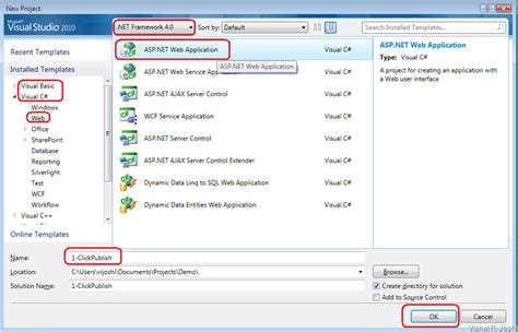 tutorial web application visual studio 2010 vishal joshi s tangent creating a simple asp net 4 web